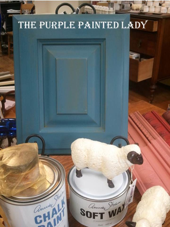Olive and Aubusson Blue cabinet