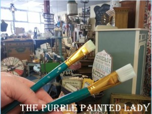 The Purple Painted Lady Chalk Paint Artist Brushes