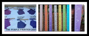 PicMonkey Collage The Purple Painted Lady Aimee Crawford Custom Purple Growth Chart Chalk paint