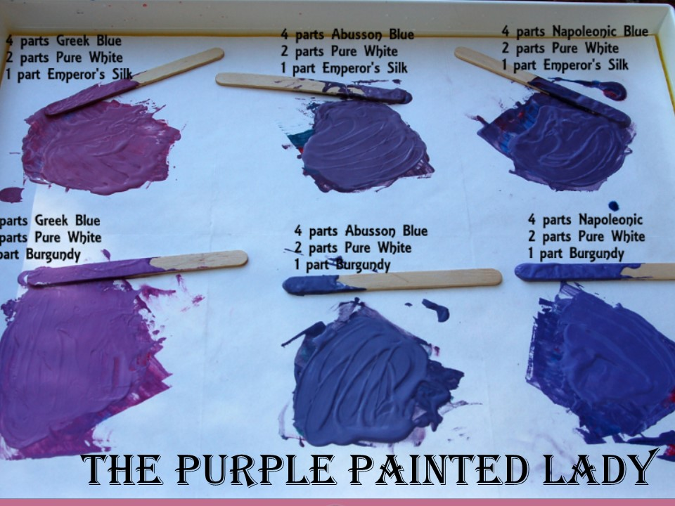 The Purple Painted Lady Chalk Paint Another view of custom purple recipe