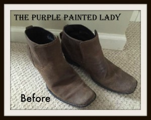 The Purple Painted Lady BEFORE BOOTS Indigo Tones BEFORE Books