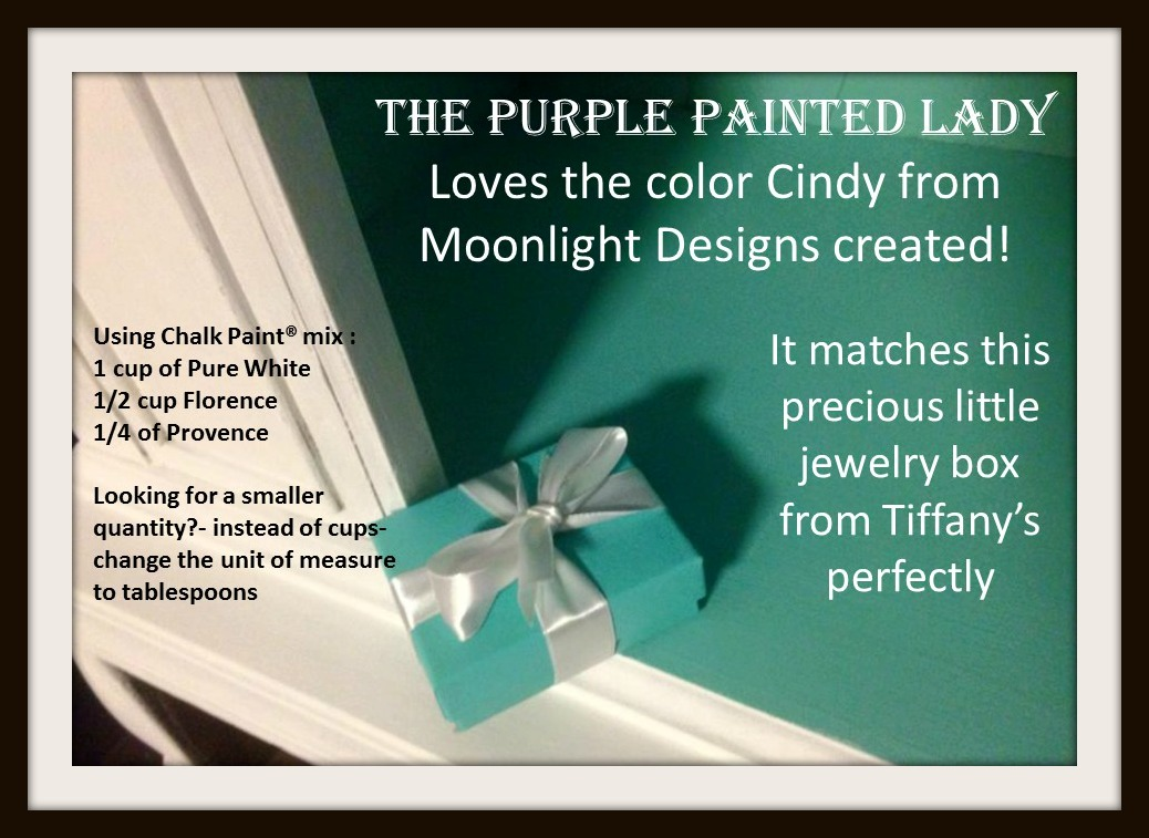 Tiffany Blue Recipe Cindy The Purple Painted Lady Chalk Paint