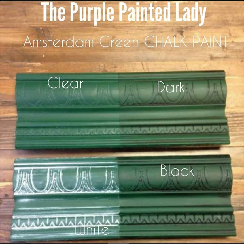Chalk Paint® Sample Board Colors- all in a row | The Purple Painted Lady
