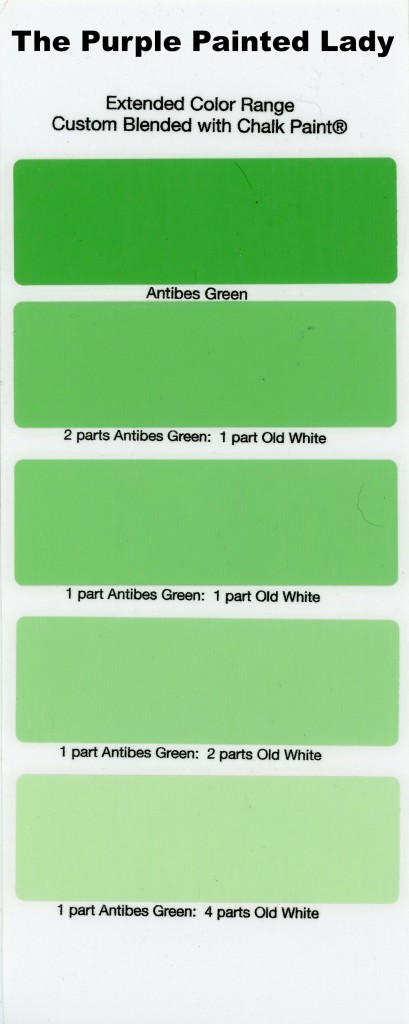 Paint Sample chalk paint® sample board colors- all in a row | the purple