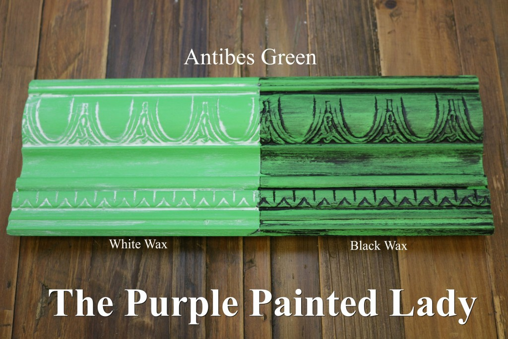 The Purple Painted Lady Antibes Chalk Paint Annie Sloan Black White Wax