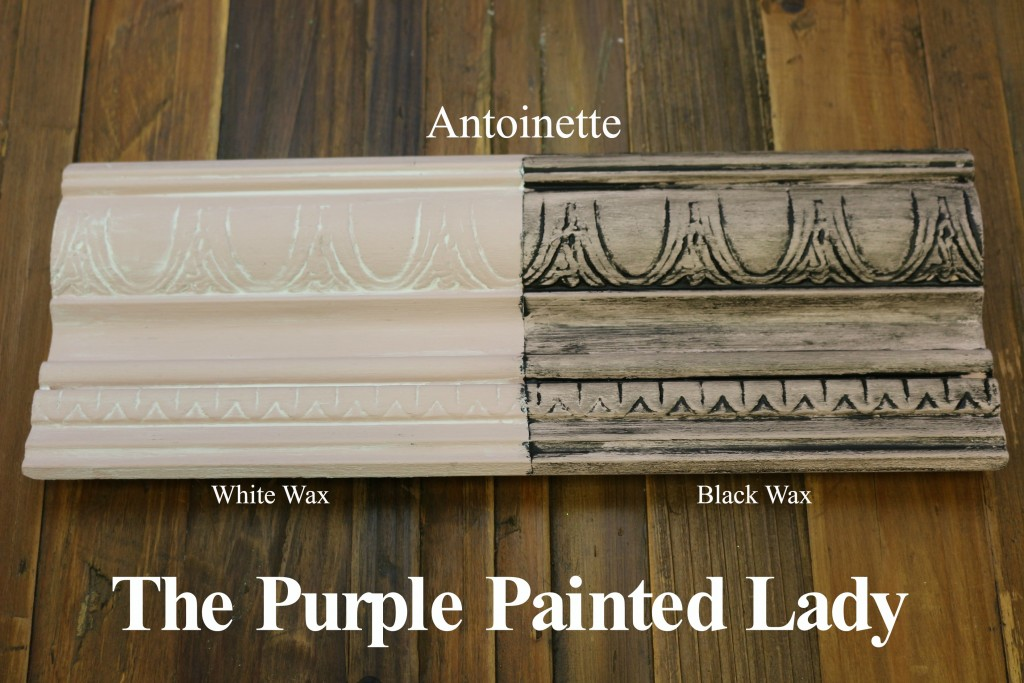 The Purple Painted Lady Antoinette Chalk Paint Annie Sloan Black White Wax