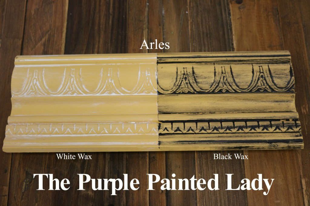 The Purple Painted Lady Arles Chalk Paint Annie Sloan Black White Wax