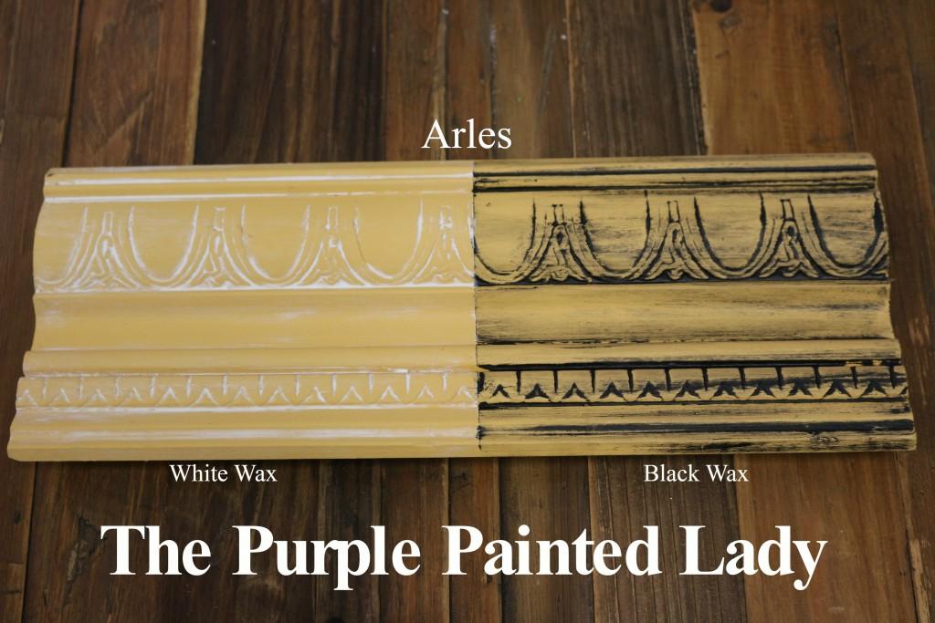 The Purple Painted Lady Arles Chalk Paint Annie Sloan Black White Wax