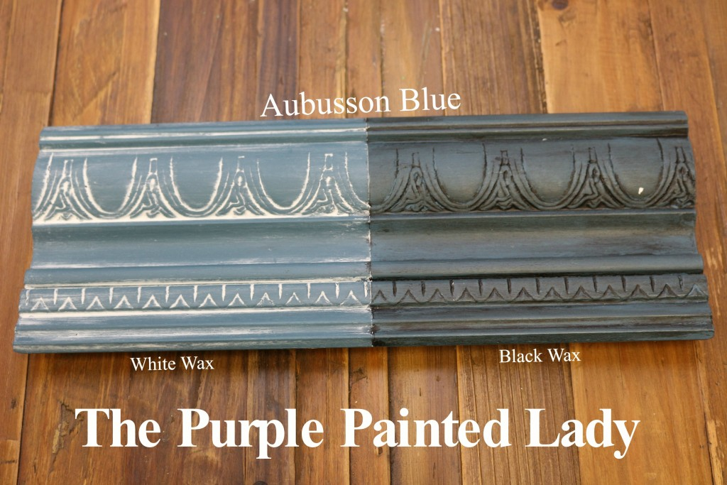 The Purple Painted Lady Aubusson Blue Chalk Paint Annie Sloan Black White Wax