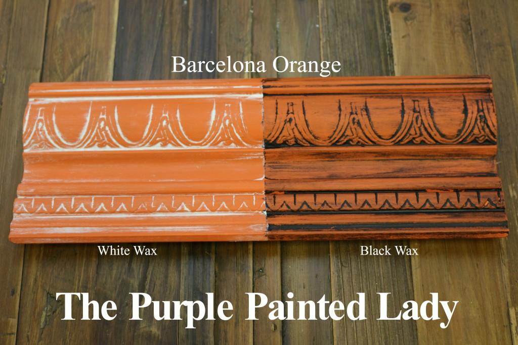 The Purple Painted Lady Barcelona Orange Chalk Paint Annie Sloan Black White Wax