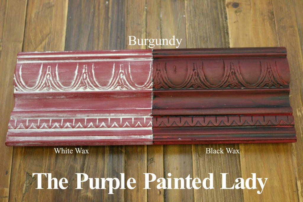 The Purple Painted Lady Burgundy Chalk Paint Annie Sloan Black White Wax