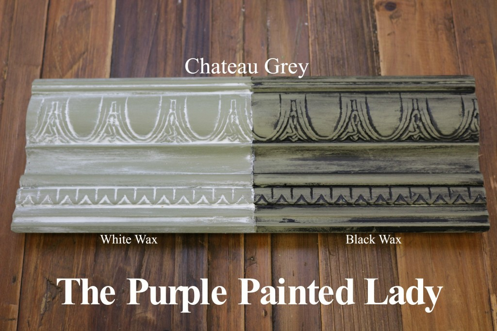 The Purple Painted Lady Chateau Grey Chalk Paint Annie Sloan Black White Wax