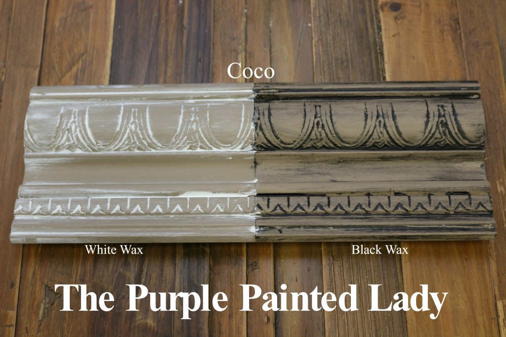 The Purple Painted Lady Coco Chalk Paint Annie Sloan Black White Wax