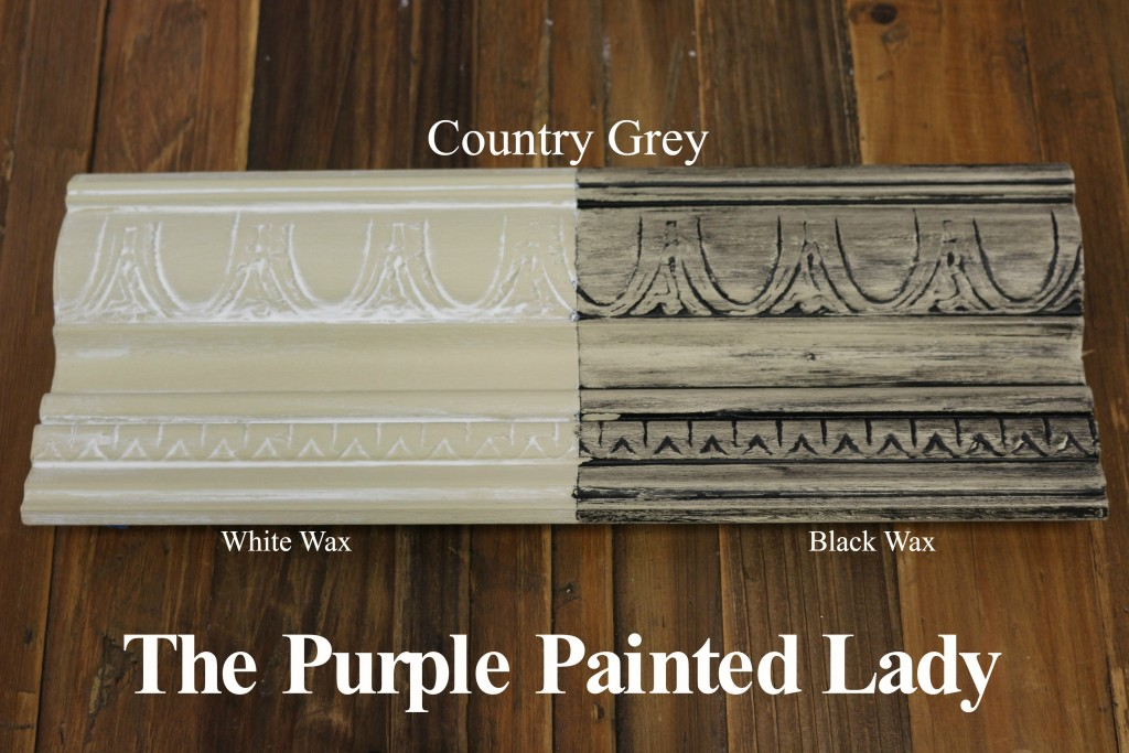 The Purple Painted Lady Country Grey Chalk Paint Annie Sloan Black White Wax