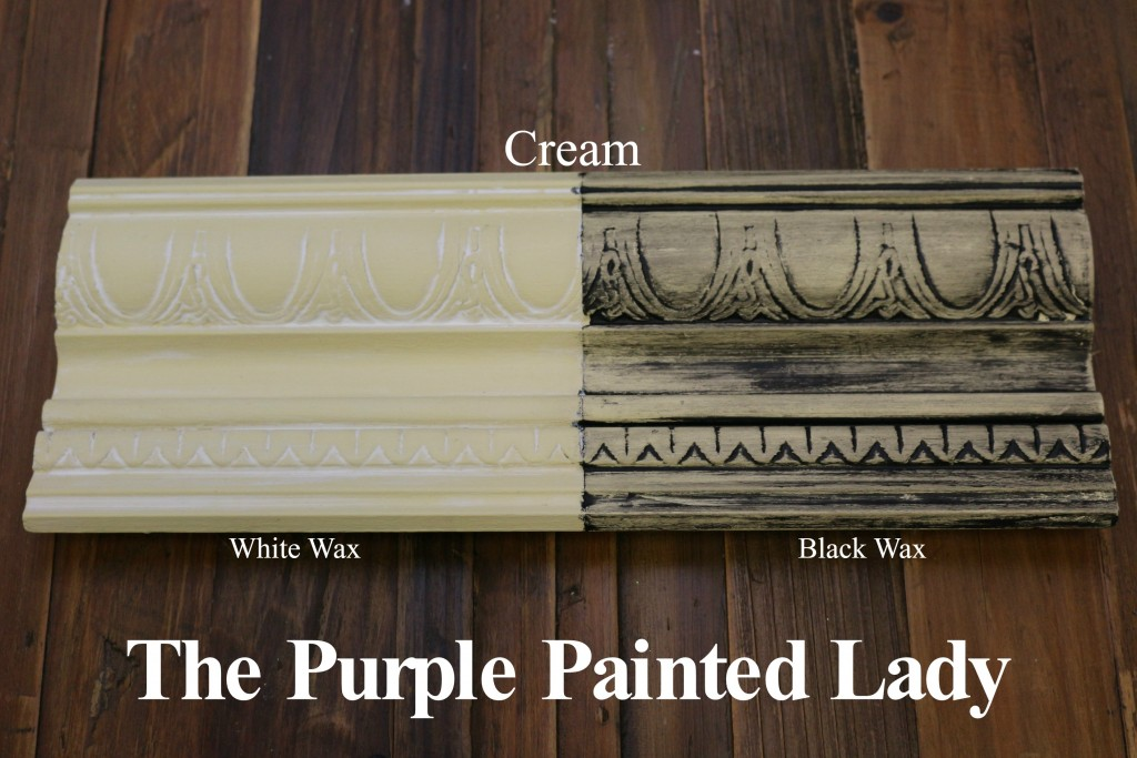 The Purple Painted Lady Cream Chalk Paint Annie Sloan Black White Wax