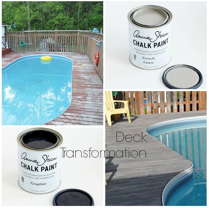 The Purple Painted Lady Deck Pool Transformation Chalk Paint Annie Sloan Freeman
