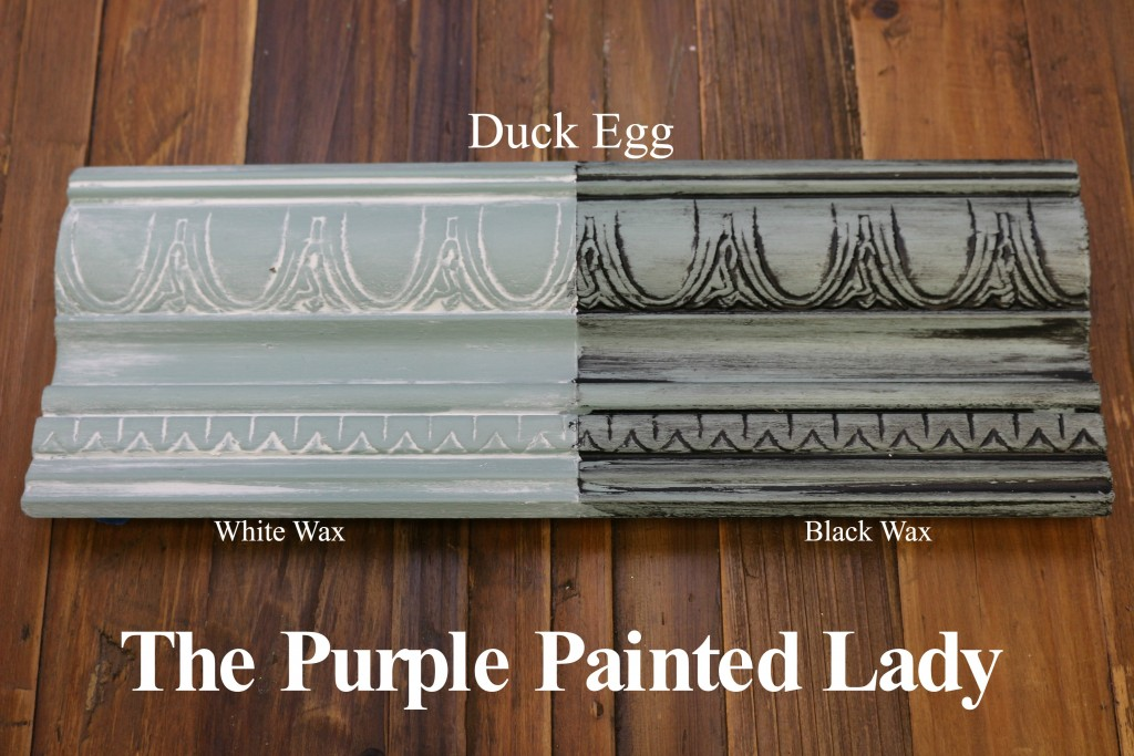 The Purple Painted Lady Duck Egg Chalk Paint Annie Sloan Black White Wax