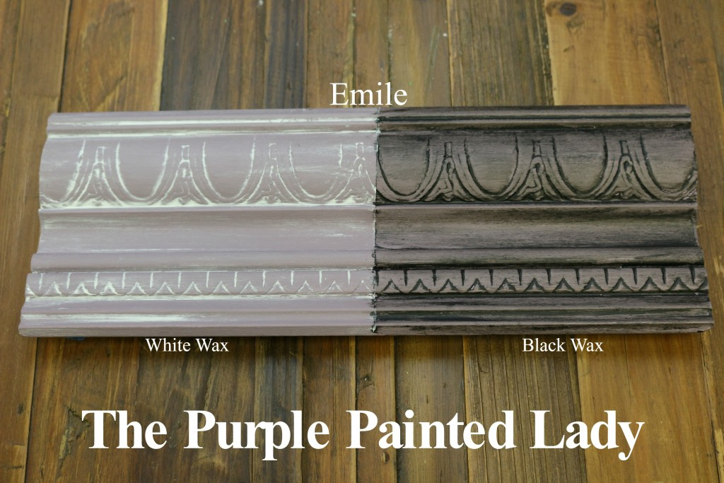 The Purple Painted Lady Emile Chalk Paint Annie Sloan Black White Wax