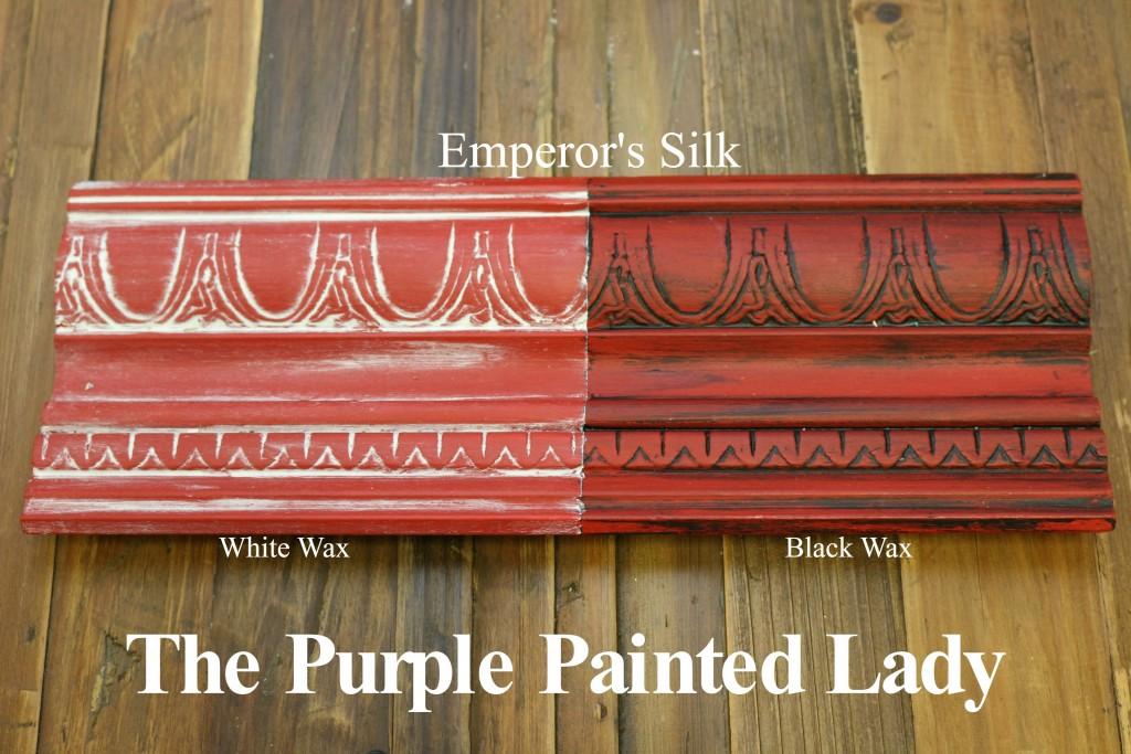 The Purple Painted Lady Emperor's Silk Chalk Paint Annie Sloan Black White Wax