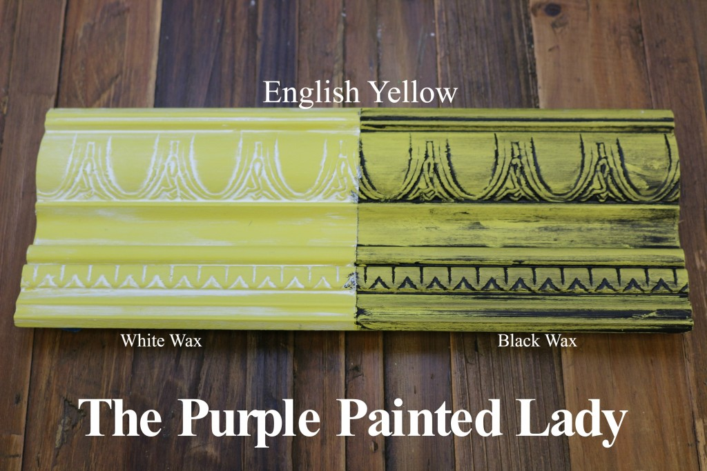 The Purple Painted Lady English Yellow Chalk Paint Annie Sloan Black White Wax
