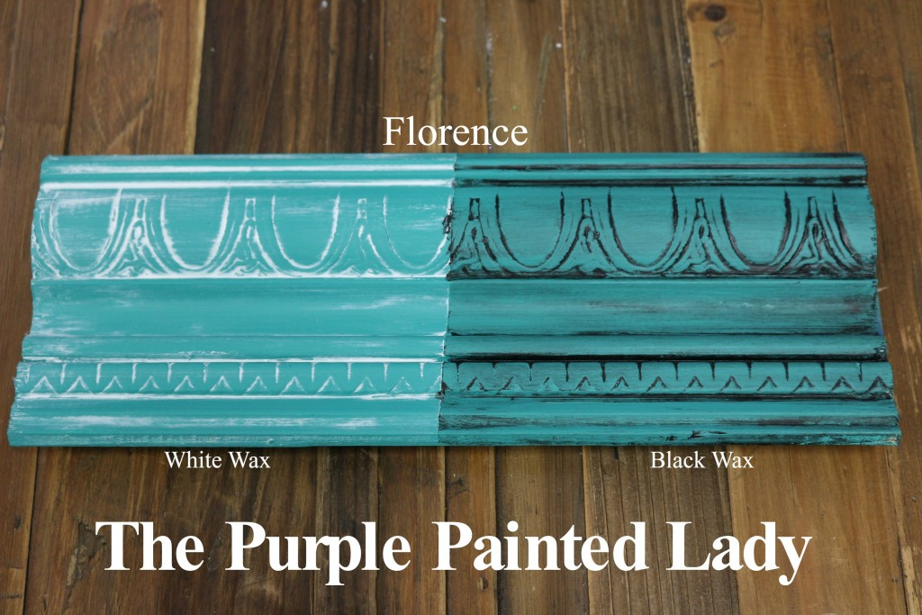 The Purple Painted Lady Florence Chalk Paint Annie Sloan Black White Wax