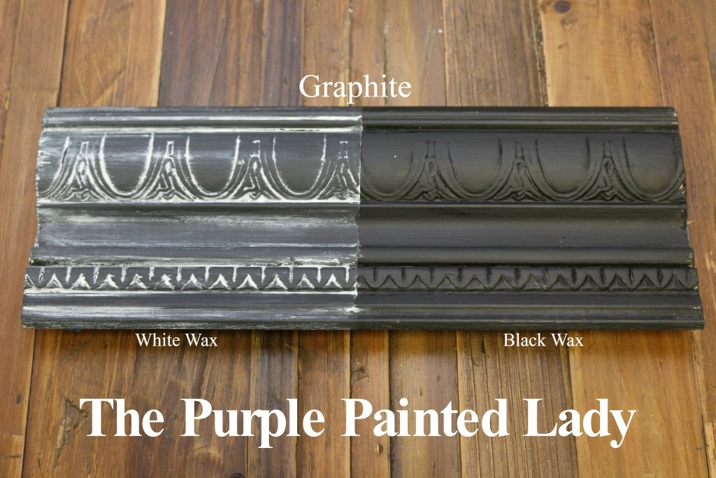 The Purple Painted Lady Graphite Chalk Paint Annie Sloan Black White Wax