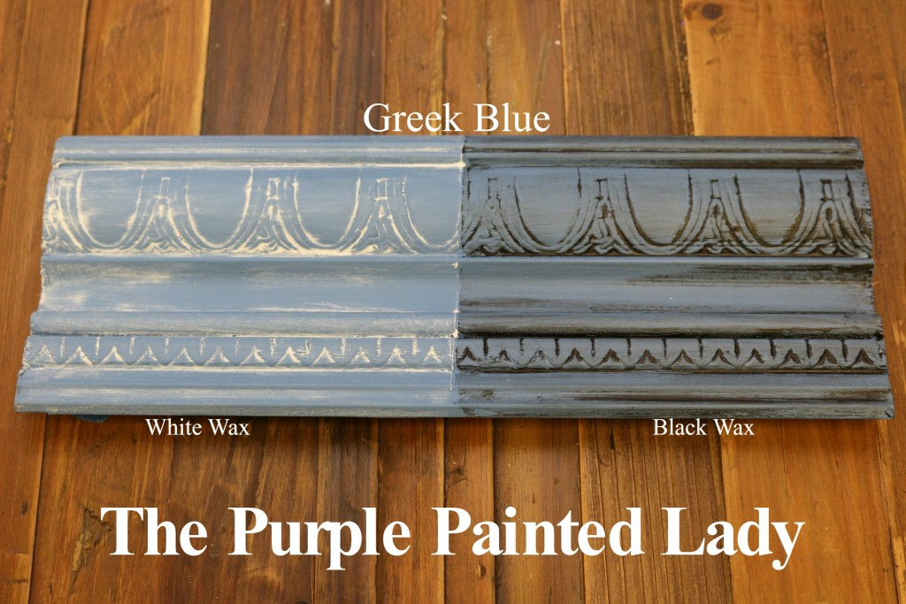 The Purple Painted Lady Greek Blue Chalk Paint Annie Sloan Black White Wax