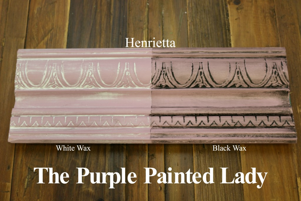 The Purple Painted Lady Henrietta Chalk Paint Annie Sloan Black White Wax