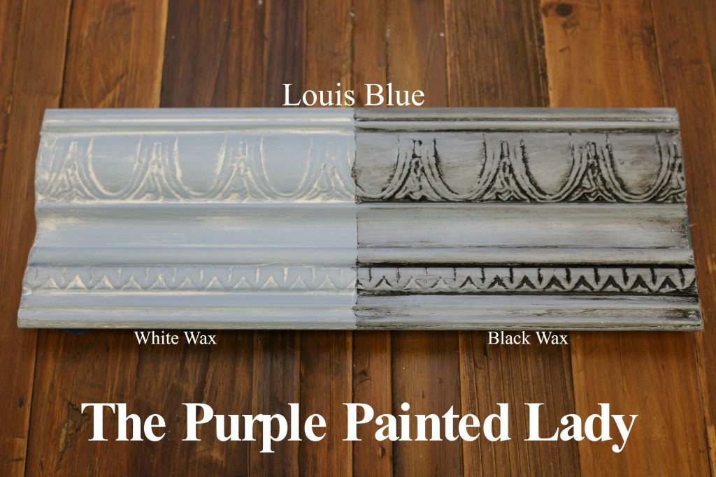 The Purple Painted Lady Louis Blue Chalk Paint Annie Sloan Black White Wax