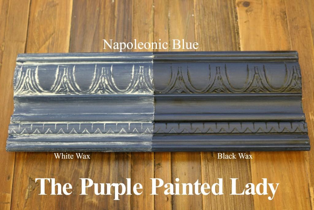 The Purple Painted Lady Napoleonic Blue Chalk Paint Annie Sloan Black White Wax