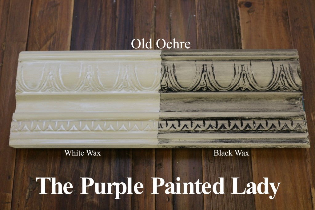 The Purple Painted Lady Old Ochre Chalk Paint Annie Sloan Black White Wax