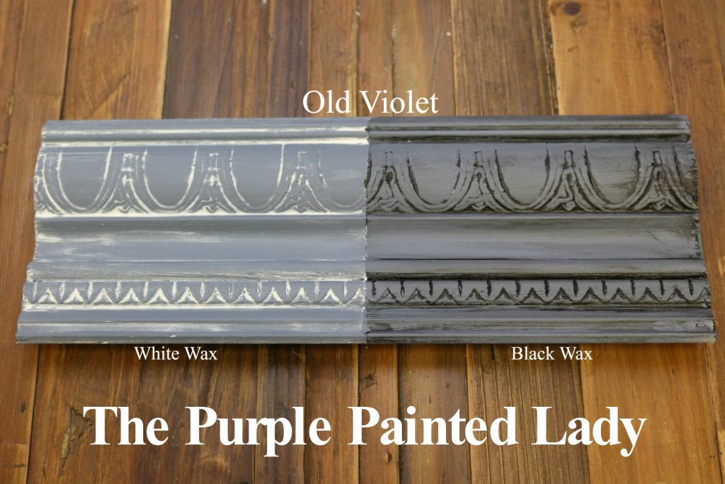 The Purple Painted Lady Old Violet Chalk Paint Annie Sloan Black White Wax