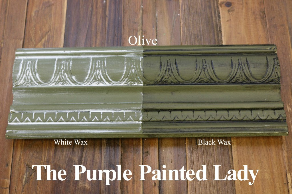 The Purple Painted Lady Olive Chalk Paint Annie Sloan Black White Wax