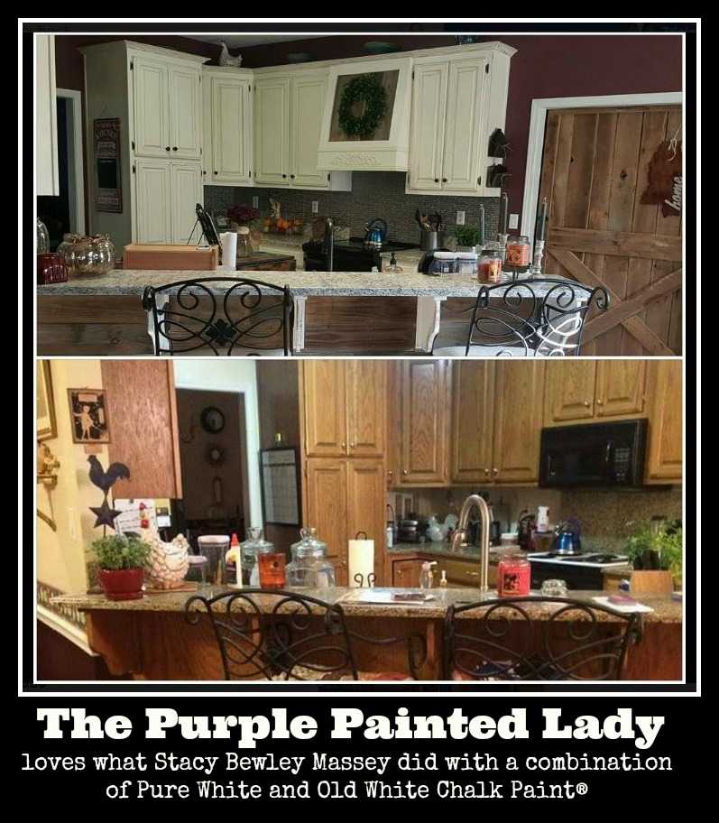The Purple Painted Lady Painted Kitchen Before after Stacy Bewley Massey 2