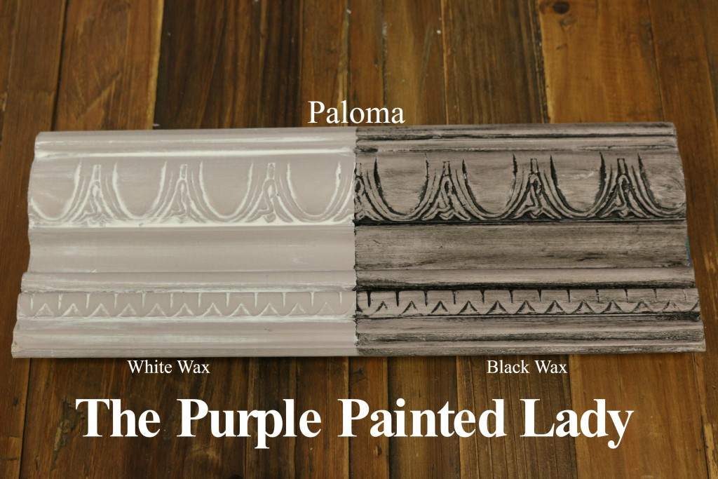 The Purple Painted Lady Paloma Chalk Paint Annie Sloan Black White Wax
