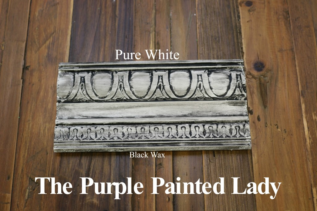 The Purple Painted Lady Pure White Chalk Paint Annie Sloan Black White Wax