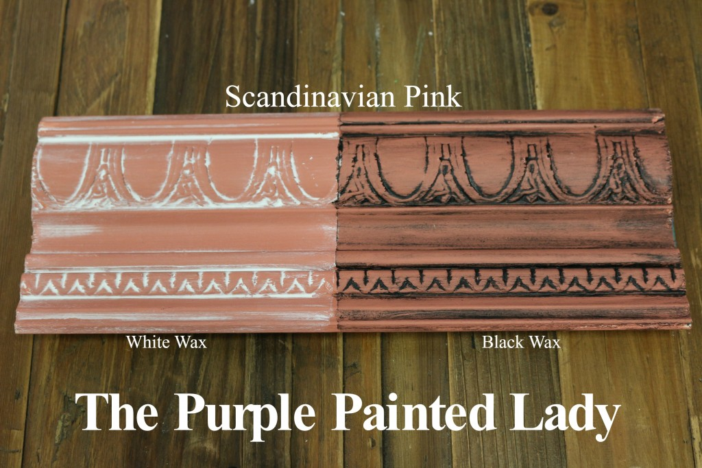 The Purple Painted Lady Scandinavian Pink Chalk Paint Annie Sloan Black White Wax