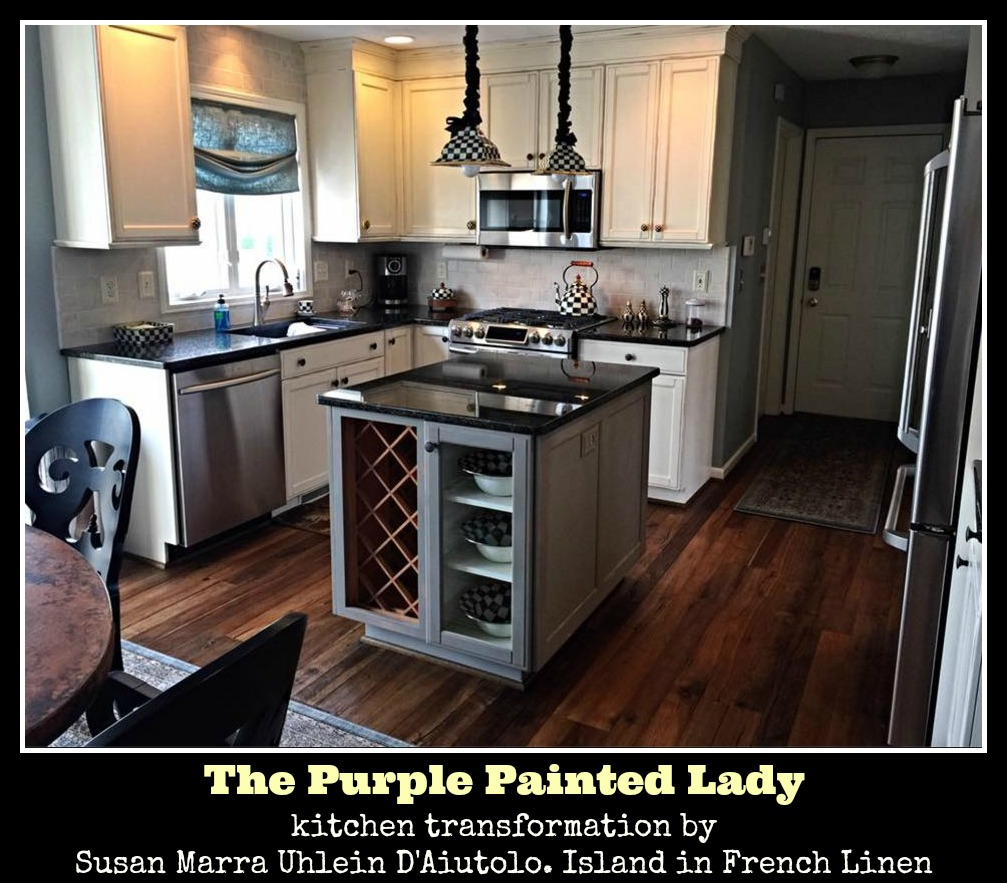 The Purple Painted Lady Susan Marra Uhlein D'Aiutolo Kitchen Chalk Paint French Linen Island