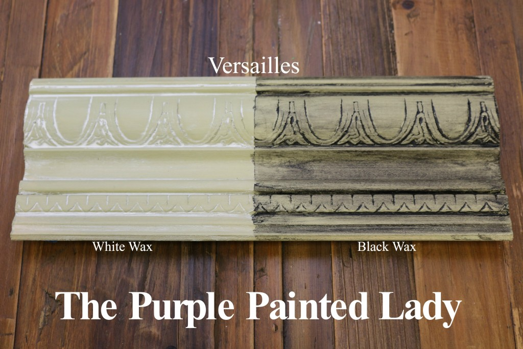 The Purple Painted Lady Versailles Chalk Paint Annie Sloan Black White Wax