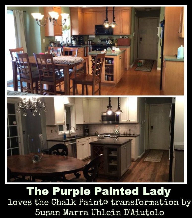 The Purple Paited Lady Chalk Paint Susan Marra Uhlein D'Aiutolo Kitchen Cabinets before after 2
