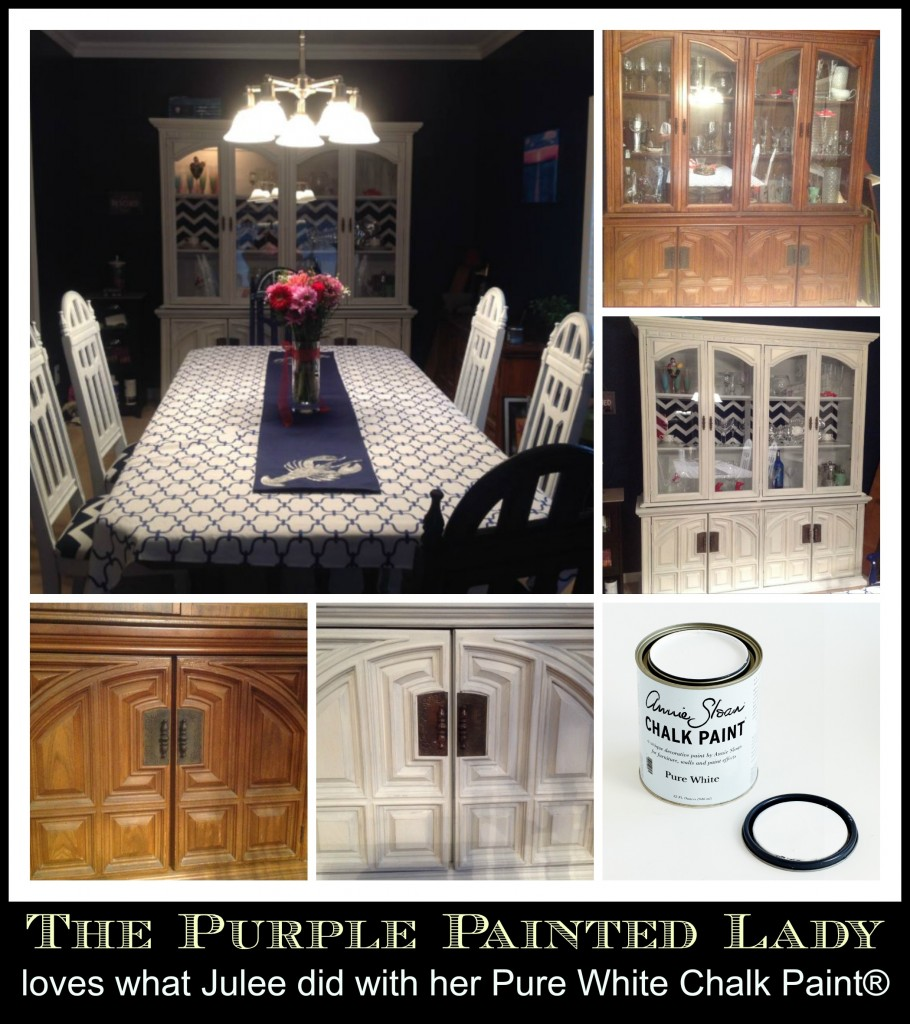 julee Chalk Paint The purple painted lady dining room collage