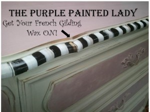 French Gilding Wax Empire Antoinette Dresser
