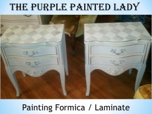 Painting formica laminate