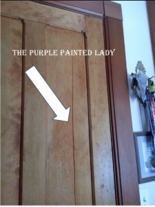 The Purple Painted Lady Cracked door humidity 2