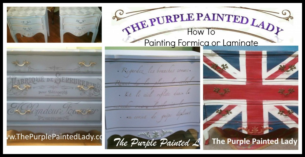 The Purple Painted Lady How to Paint Formica Laminate Pic