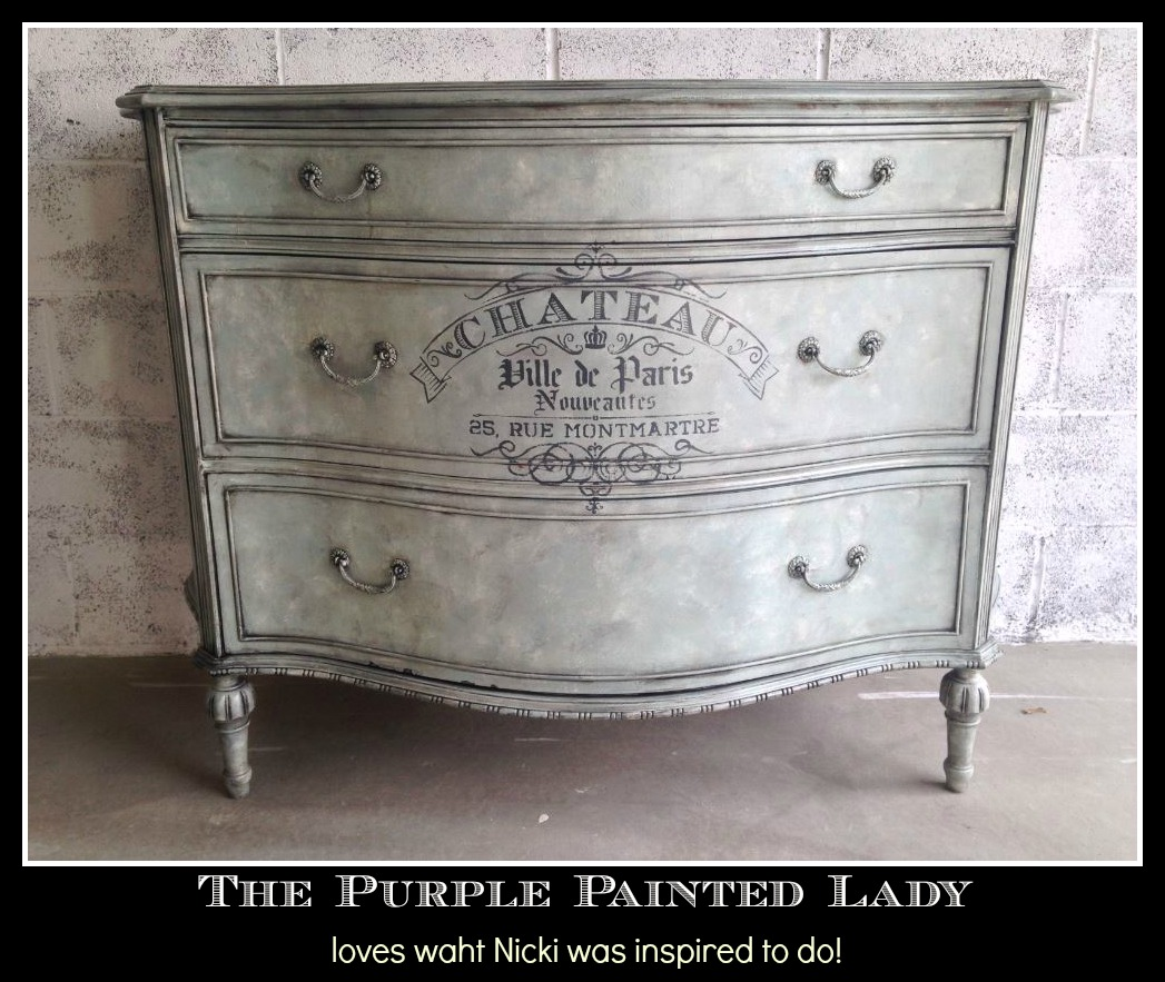 The Purple Painted Lady General Finishes Glaze High Performance Chalk Paint Nicki whole dresser