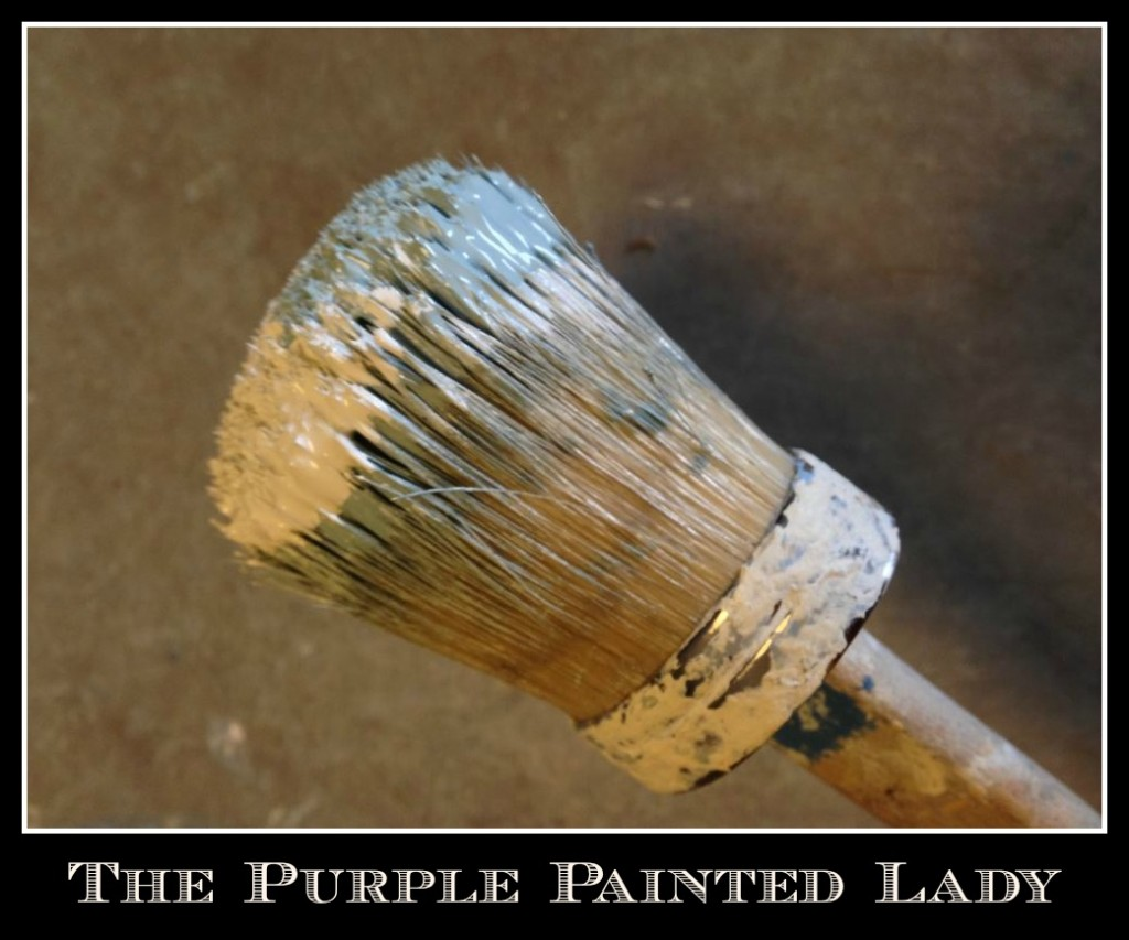 The Purple Painted Lady small Annie sloan Chalk Paint brush domed top