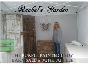 Rachels Garden Barn Sale set up