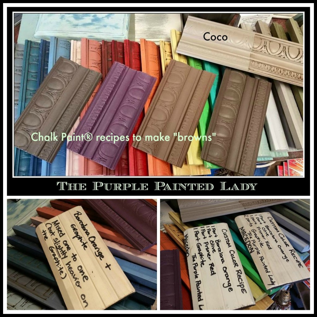 The Purple Painted Lady Custom Borwn Chalk Paint Annie Sloan Recipe Collage