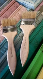 The Purple Painted Lady 2 inch chip brush